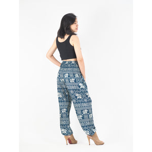 African Elephant 4 women harem pants in green PP0004 020004 05