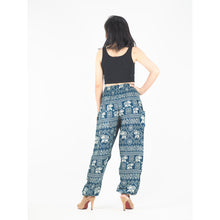 Load image into Gallery viewer, African Elephant 4 women harem pants in green PP0004 020004 05
