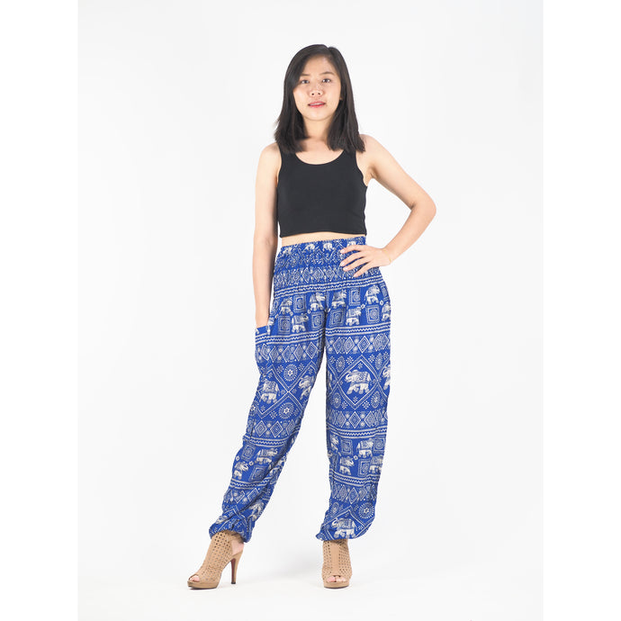 African Elephant 4 women harem pants in Bright Navy PP0004 020004 06