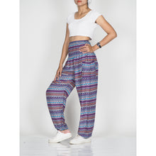 Load image into Gallery viewer, Colorful Stripes 6 women harem pants in Purple PP0004 020006 04