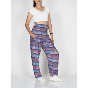 Colorful Stripes 6 women harem pants in Purple PP0004 020006 04