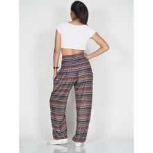 Load image into Gallery viewer, Colorful Stripes 6 women harem pants in Dark Brown PP0004 020006 05