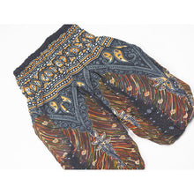 Load image into Gallery viewer, Peacock Unisex Kid Harem Pants in Black Gold PP0004 020007 04