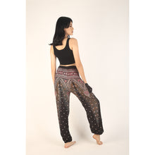 Load image into Gallery viewer, Peacock 7 Men/Women's Harem Pants in Balck White PP0004 020007 06