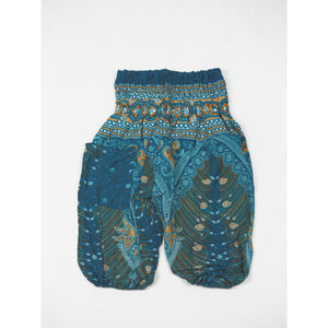 Peacock Unisex Kid Harem Pants in Dark Green PP0004 020008 03