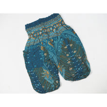 Load image into Gallery viewer, Peacock Unisex Kid Harem Pants in Dark Green PP0004 020008 03