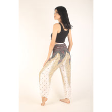 Load image into Gallery viewer, Peacock 8 men/women harem pants in White PP0004 020008 07