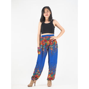Floral Royal 10 women harem pants in Bright Navy PP0004 020010 14
