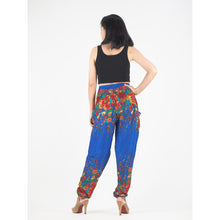 Load image into Gallery viewer, Floral Royal 10 women harem pants in Bright Navy PP0004 020010 14