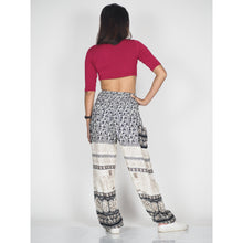 Load image into Gallery viewer, Cute elephant 11 women harem pants in Black PP0004 020011 02