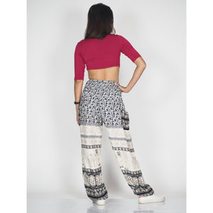 Cute elephant 11 women harem pants in Black PP0004 020011 02