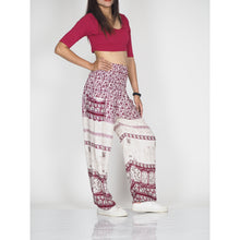 Load image into Gallery viewer, Cute elephant 11 women harem pants in Dark Red PP0004 020011 03