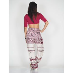 Cute elephant 11 women harem pants in Dark Red PP0004 020011 03