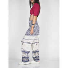 Load image into Gallery viewer, Cute elephant 11 women harem pants in Navy PP0004 020011 04