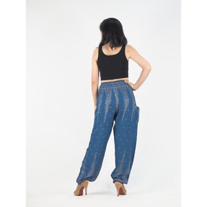 Peacock Feather Dream 15 women harem pants in Ocean Blue PP0004 020015 02