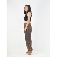Load image into Gallery viewer, Peacock Feather Dream 15 women harem pants in Brown PP0004 020015 08