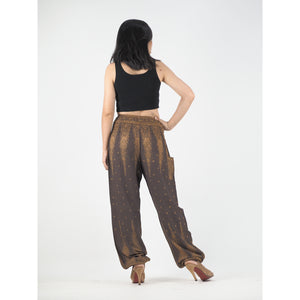 Peacock Feather Dream 15 women harem pants in Brown PP0004 020015 08