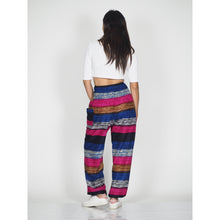 Load image into Gallery viewer, Funny Stripe 21 women harem pants in Black PP0004 020021 01