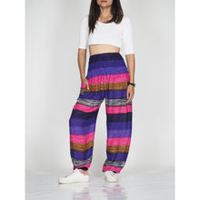 Load image into Gallery viewer, Funny Stripe 21 women harem pants in Purple PP0004 020021 03