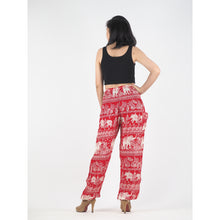 Load image into Gallery viewer, Paisley elephants 22 women harem pants in Red PP0004 020022 04
