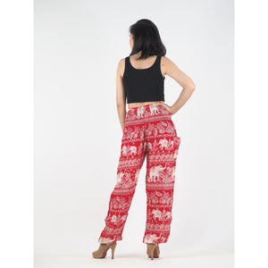 Paisley elephants 22 women harem pants in Red PP0004 020022 04