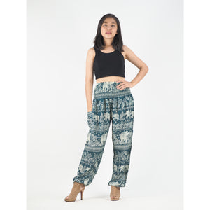Paisley elephants 22 women harem pants in Green PP0004 020022 05