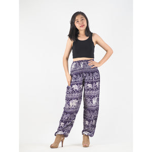 Paisley elephants 22 women harem pants in Purple PP0004 020022 07