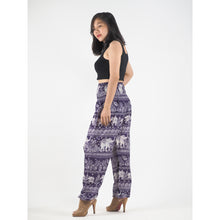 Load image into Gallery viewer, Paisley elephants 22 women harem pants in Purple PP0004 020022 07