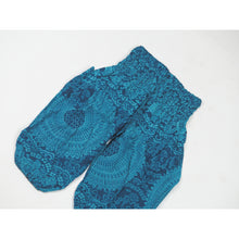 Load image into Gallery viewer, Monotone Mandala Unisex Kid Harem Pants in Ocean Blue PP0004 020031 06