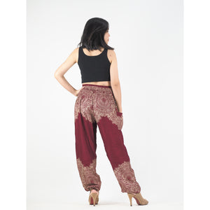 Floral mandala 36 women harem pants in Red PP0004 020036 05