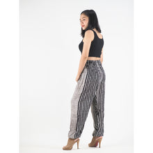 Load image into Gallery viewer, Zebra Stripe 41 women harem pants in Black PP0004 020041 01