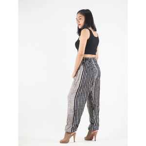 Zebra Stripe 41 women harem pants in Black PP0004 020041 01