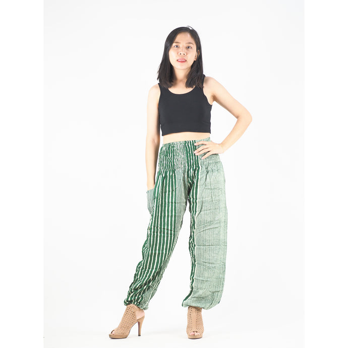 Zebra Stripe 41 women harem pants in Green PP0004 020041 06