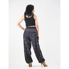 Load image into Gallery viewer, Peacock Heaven 58 Men/Women harem pants in black PP0004 020058 01