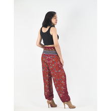 Load image into Gallery viewer, Peacock Heaven 58 women harem pants in Red PP0004 020058 02