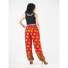 Load image into Gallery viewer, King elephant womens harem pants in red PP0004 020059 02