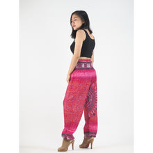 Load image into Gallery viewer, Tribal dashiki womens harem pants in pink PP0004 020060 01