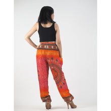 Load image into Gallery viewer, Tribal dashiki womens harem pants in Orange PP0004 020060 03