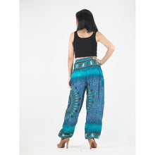 Load image into Gallery viewer, Tribal dashiki womens harem pants in Green PP0004 020066 05