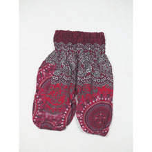 Load image into Gallery viewer, Clock nut Unisex Kid Harem Pants in Red PP0004 020067 06