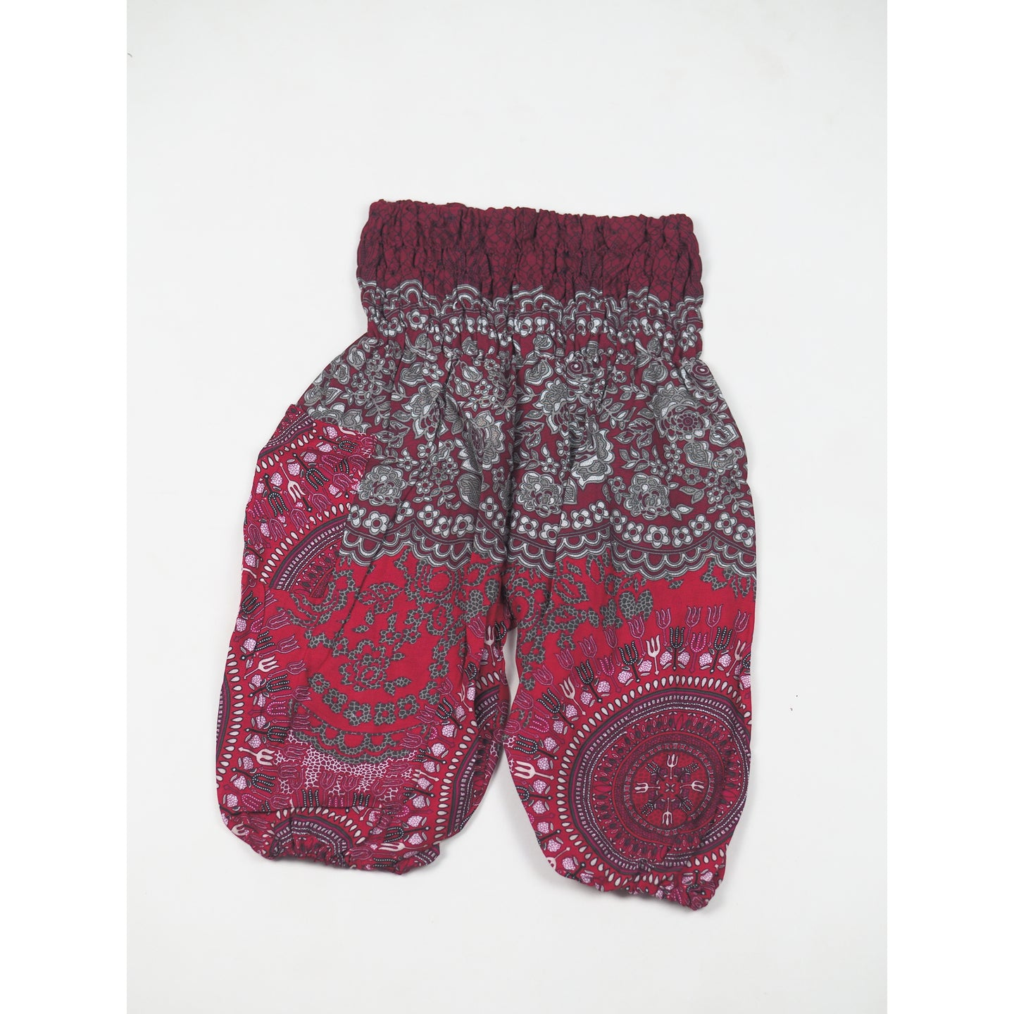 Clock nut Unisex Kid Harem Pants in Red PP0004 020067 06