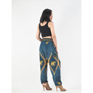 Diamond Elephant Womens Harem Pants in Ocean Blue PP0004 020079 03