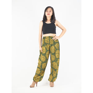 Floral Classic 98 women harem pants in Green PP0004 020098 07