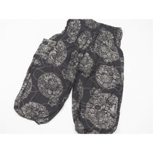 Load image into Gallery viewer, Floral Classic Unisex Kid Harem Pants in Black PP0004 020098 08