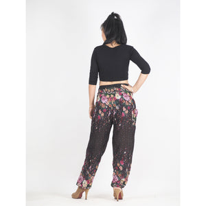 Flowers 100 women harem pants in Brown PP0004 020100 07