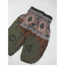 Load image into Gallery viewer, Mandala elephant Unisex Kid Harem Pants in Olive PP0004 020108 06