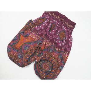 Mandala Unisex Kid Harem Pants in Red PP0004 020114 06