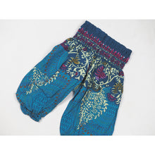 Load image into Gallery viewer, Large Paisley Unisex Kid Harem Pants in Ocean Blue PP0004 020124 03