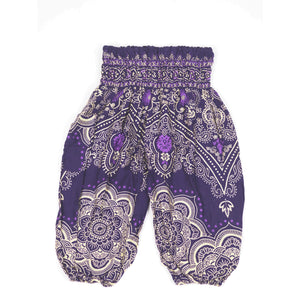 Temple Flower Unisex Kid Harem Pants in Purple PP0004 020159 05