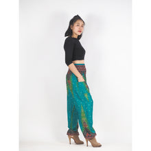 Load image into Gallery viewer, Peacock 168 women harem pants in Green PP0004 020168 02